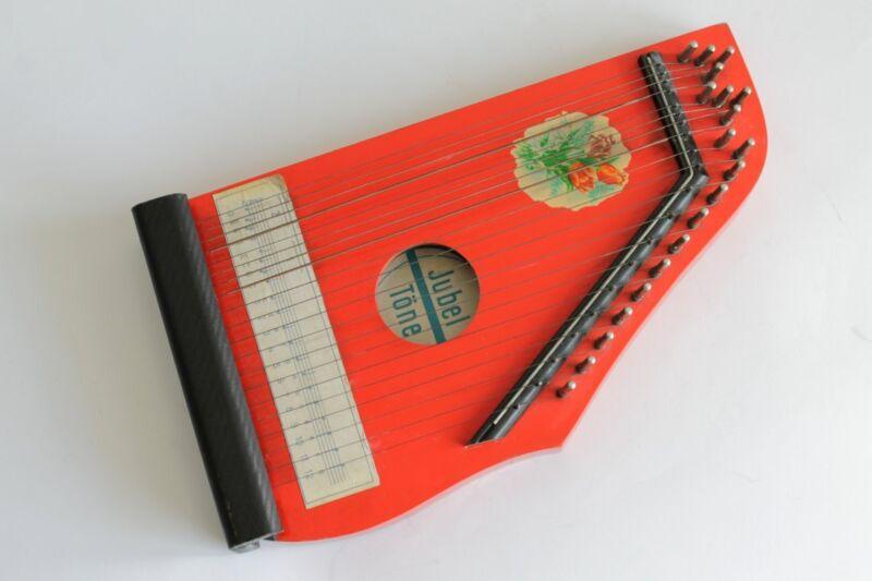 Vintage German JUBEL TONE Small String Harp Lute 1960
