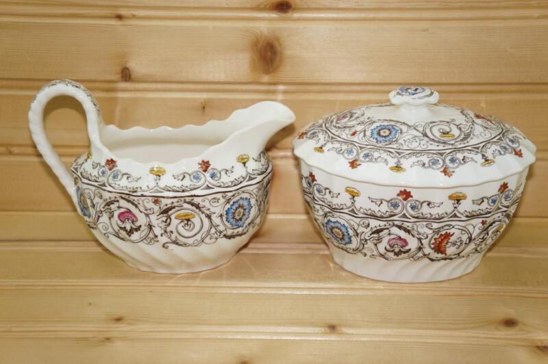 Spode FLORENCE (Royal Blue) Creamer & Sugar Bowl Set   Copeland England