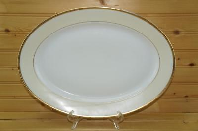 Meito China White / Cream with Gold Trim Oval Sering Platter   -