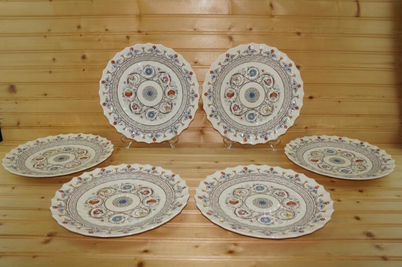 Spode FLORENCE (Royal Blue) (6) Dinner Plates   Copeland England