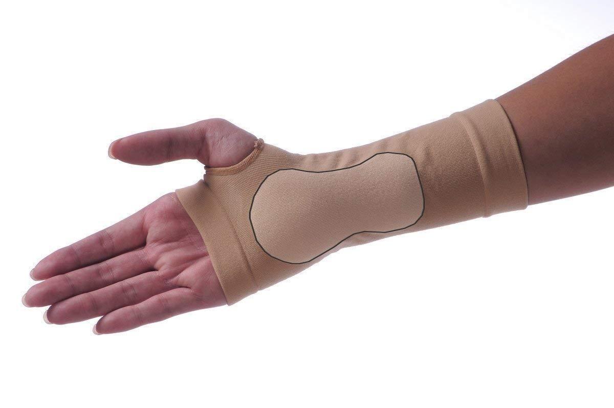 Karpaltunnel-Bandage mit Gelpad.Stabilorthese.Handgelenkschoner.Manschette.Links