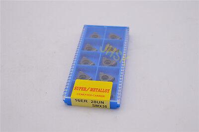 10pcs 16er 28un Smx35 Carbide Insert For Threading Turning Tool Boring Bar