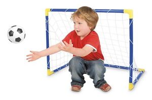 KIDS MINI FOOTBALL SOCCER GARDEN GOAL POST SET NET BALL INDOOR OUTDOOR SPORT TOY
