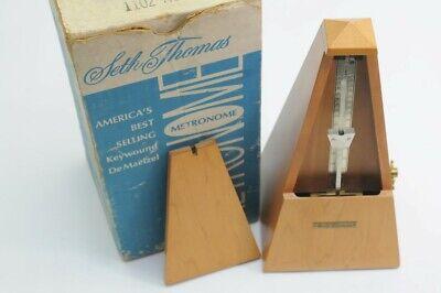 SETH TOMAS METRONOME KEYWOUND DE MAELZEL WITH ORIGINAL BOX (NJL018886)