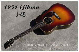 Vintage 1951 gibson acoustic guitar classic sunburst beauty