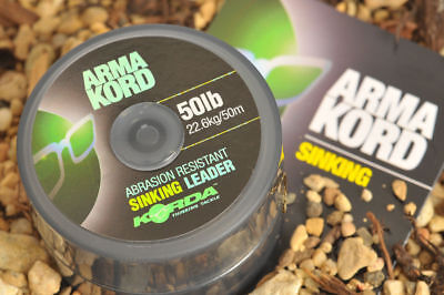 Korda Arma Kord Sinking Braided Shock Leader 50lb 50m Fishing Tackle