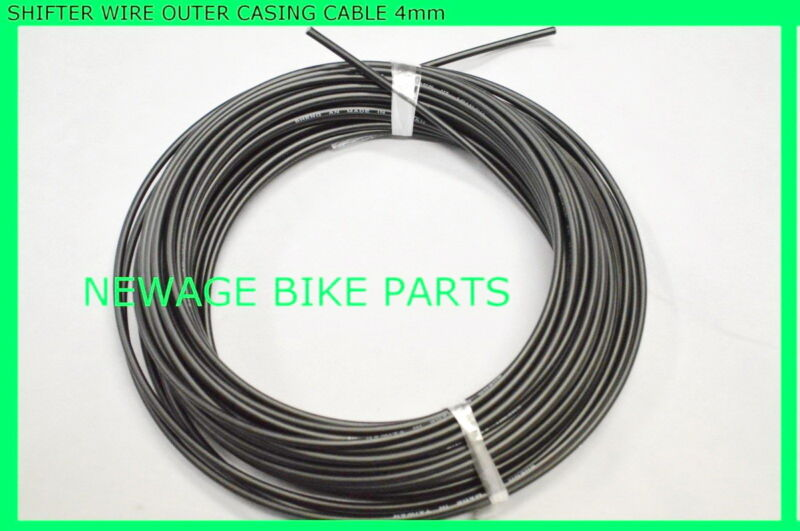 NEW Black  82 Feet Roll Shifter Derailleur Cable Outer Housing 4mm Bike Bicycle