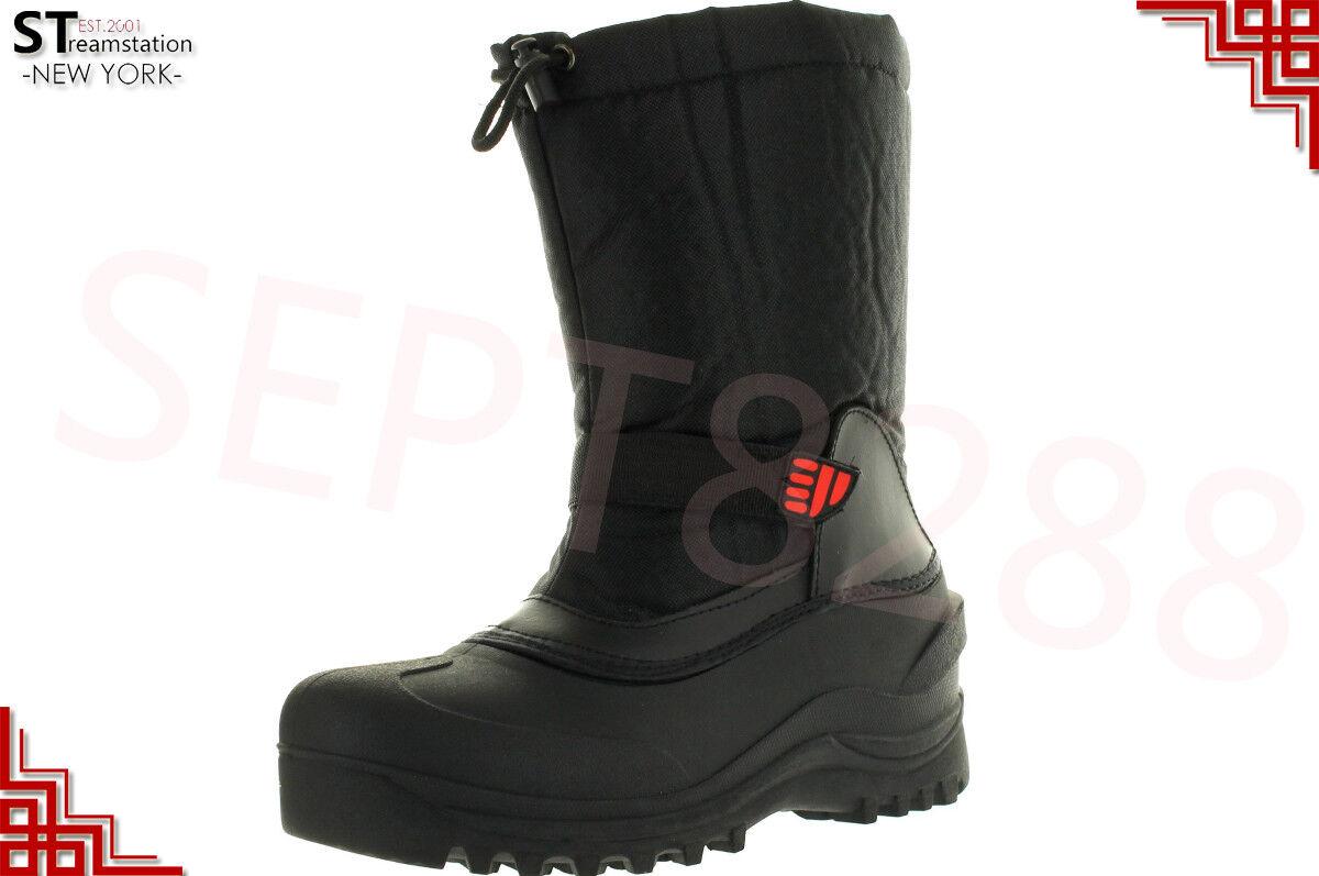 L&M Men's Black Winter Snow Boots Shoes Warm Thermolite Waterproof 2008 1