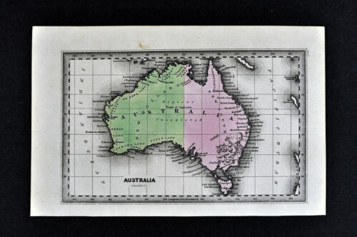 1834 Carey Map Australia Sydney Melbourne Port Philip Jackson Brisbane Tasmania