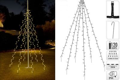 LEDs Weihnachtsbaumbeleuchtung 2m Baum Beleuchtung Kegel (Weihnachten Schwarz Lichter)