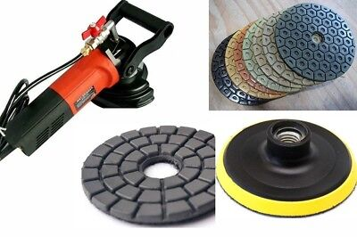 Wet Concrete Granite Polisher 5 Diamond Polishing Buffer 152 Cement Rock Block