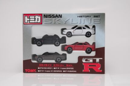 Tomy Nissan Skyline set GTS-R HR31 GT-R BNR32 BNCR33 BNR34 V-spec