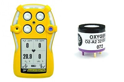 New O2-a2 Oxygen Sensor For Bw Technologies Gas Alert Quattro 0419