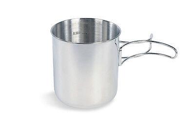 TATONKA Edelstahl-Becher mit Griff Handle Mug 0,6 Ltr. Tasse NEU 600 ml