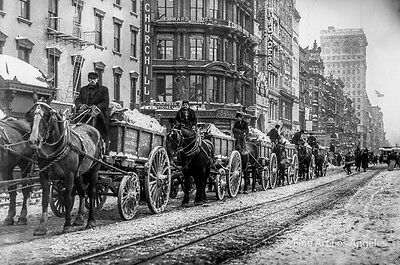 Photo of Snow Removal, 15th St, Union Square, New York, 1908