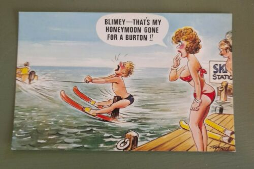 Vintage Bamforth Saucy Postcard - seaside humour, comic