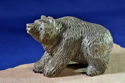 Zuni Indian Grey/Brown Bear by Master Fred Bowannie