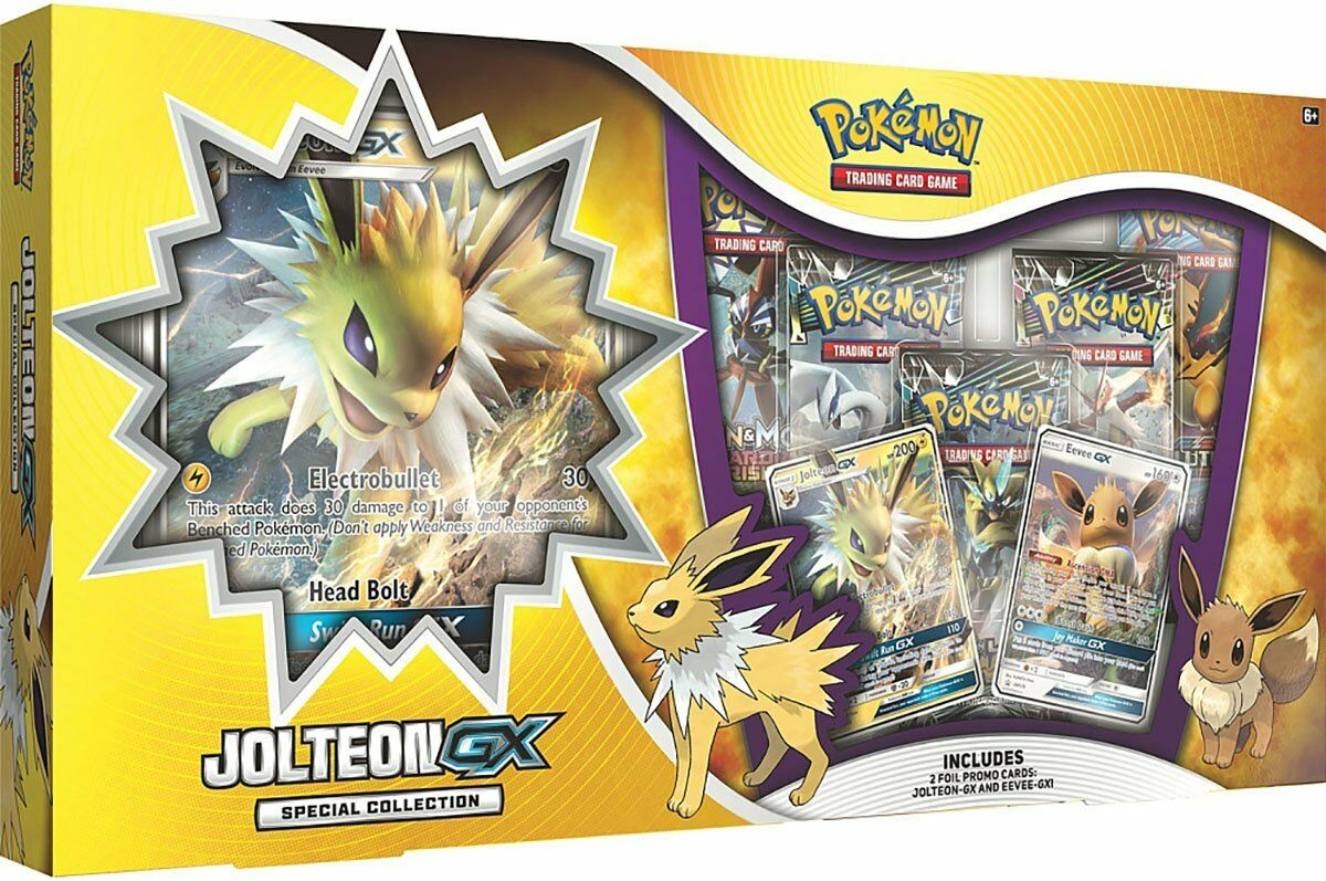 Promos Jolteon GX Special Collection Box Pokemon TCG 5 Booster Packs
