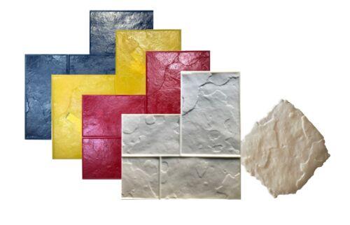 5 Pc Set Ashlar Concrete Stamps. GlobMarble Slate Stone Stamps SM3100