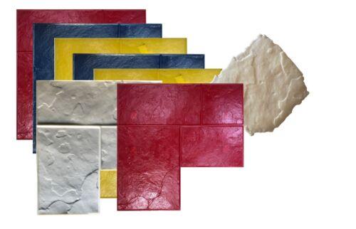 8 Pc Set of Ashlar Slate Stone Concrete Stamps. GlobMarble Stamps SM 3100, 28x28