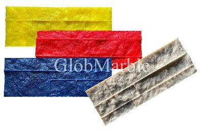 Set Of 4 Pc Concrete Vertical Stamp Mats Wsm 10503s-4 Decorative Concrete Walls