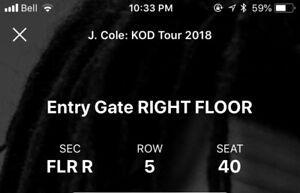 Jcole kod floor seats FLR R row 5
