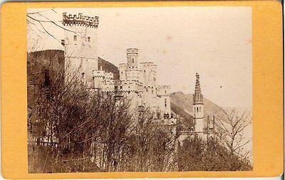 CDV photo Historische Ansicht Schloss / Burg - 1880er