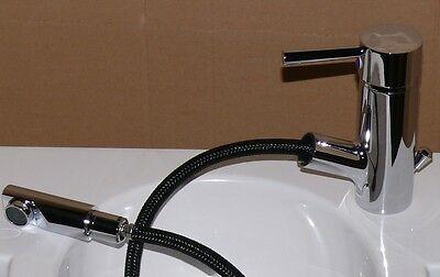 Waschtischarmatur Hoga ECO Merida Waschbecken Haar Handbrause Metallgriff chrom