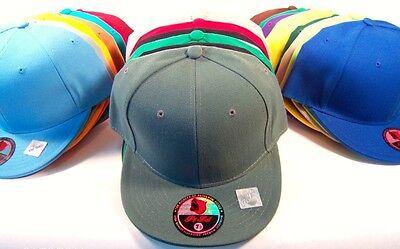 Plain FITTED Cap Blank Baseball Solid Pit Bull Hat](Blank Baseball Caps)