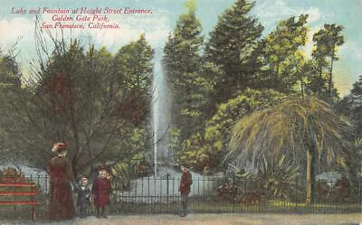 Haight Street Entrance San Francisco Golden Gate Park Fountain c1910s Postcard