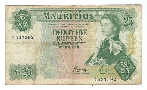 Mauritius - Twenty Five (25) Rupees, 1967