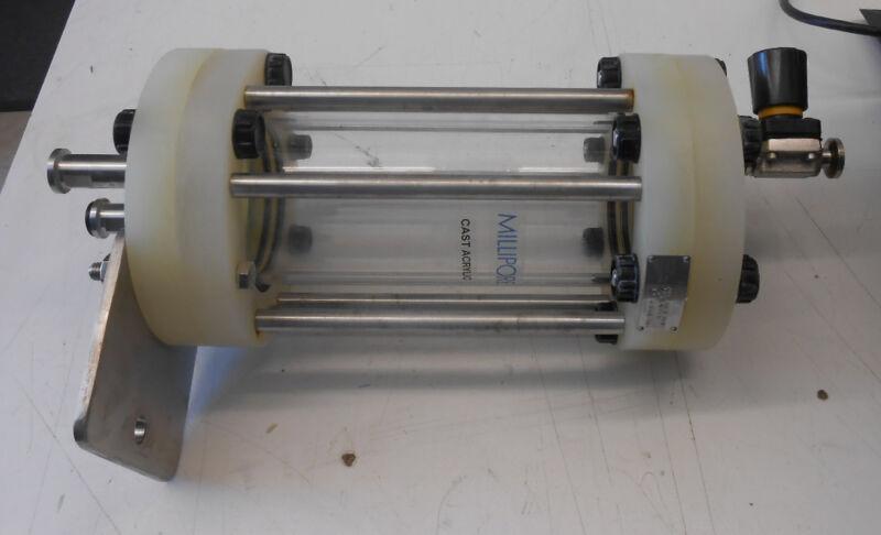 MILLIPORE CAST ACRYLIC CHROMATOGRAPHY COLUMN BUBBLE TRAP PBT90X250-VALVE