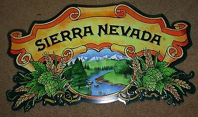 SIERRA NEVADA Classic Logo Pale Ale METAL TACKER SIGN craft beer brewery brewing