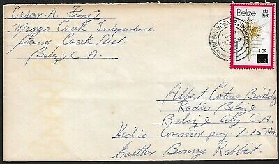 Belize 1979-83 10c on 15c Seahell used on 1983 cover Scott #422 UNKNOWN INK MARK