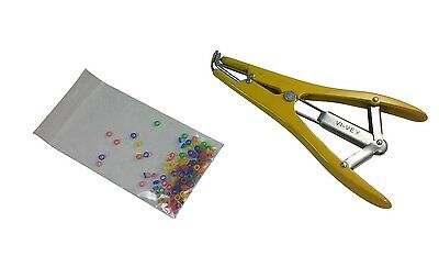 Yellow Pewter Elastrator Castration Tail Docking Dogs Puppies 100 Small Bands