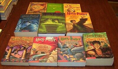 Lot of 10 Harry Potter Books Full Set 1-7 + Beedle the Bard & 2 More