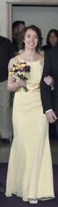 Yellow sz 2 floor length dress