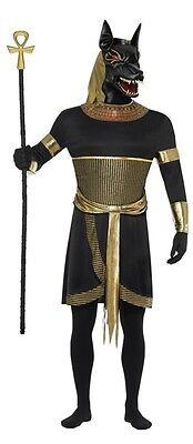 Herren Anubis Schakal Ägyptisch Gut Halloween Mythos Kostüm Kleid Outfit M & L
