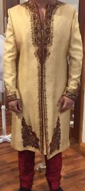 Party Groom wear Sherwani wedding shaadi shalwar kameez from Mongas pagri kussa Pakistani Indian