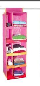 Never used: Weekly clothes organizer