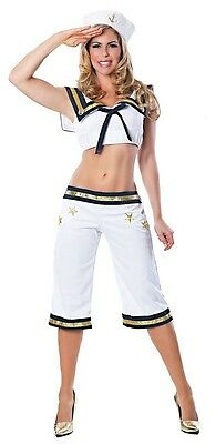 Wow, Matey! Navy Sailor Girl Pin Up Fancy Dress Up Halloween Sexy Adult Costume - Navy Pin Up Girl Costume