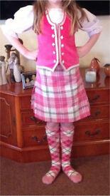 Girls Highland kilt outfit