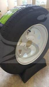 "RIM AND TYRE 15"" LANDCRUISER WHITE WITH 235/75 COMMERCIAL RATED Westmead Parramatta Area Preview"