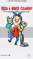 Cleaning Service available on Thursday and Friday.