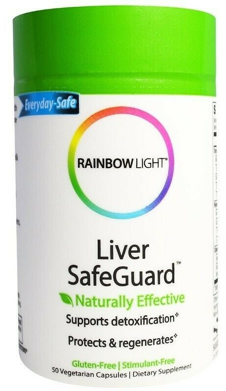 LOT OF 2 Rainbow Light Liver SafeGuard Supports Detoxificati