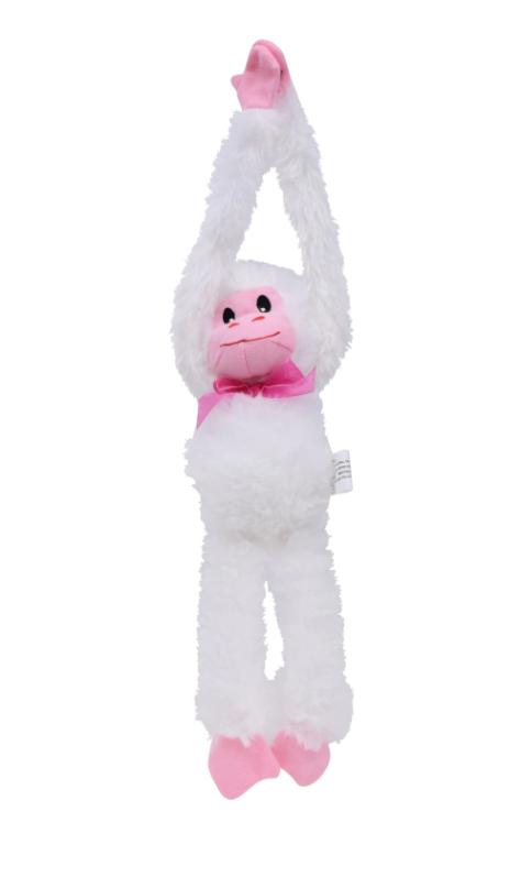 "NEW 12"" Plush Hanging Monkey Stuffed Valentine's Day ~ White"