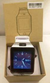 White SmartWatch Bluetooth SmartPhone apps camera SIMcard fitness band