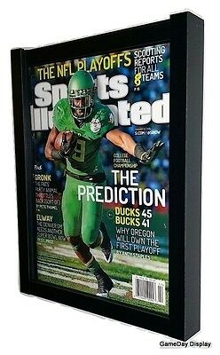(MAGAZINE SPORTS ILLUSTRATED DISPLAY FRAME CASE BLACK SHADOW BOX)