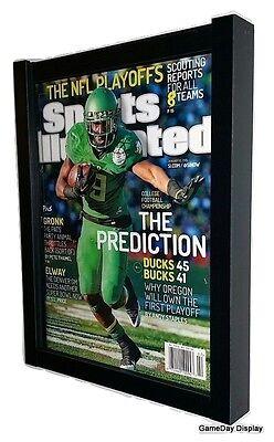 Magazine Sports Illustrated Display Frame Case Black Shadow Box