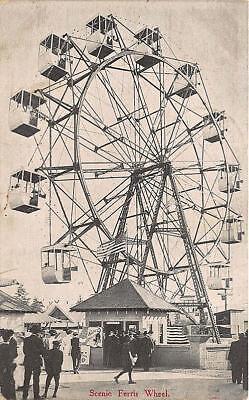 Seattle Wa Alaska Yukon Pacific Expo Ferris Wheel Amusement Postcard